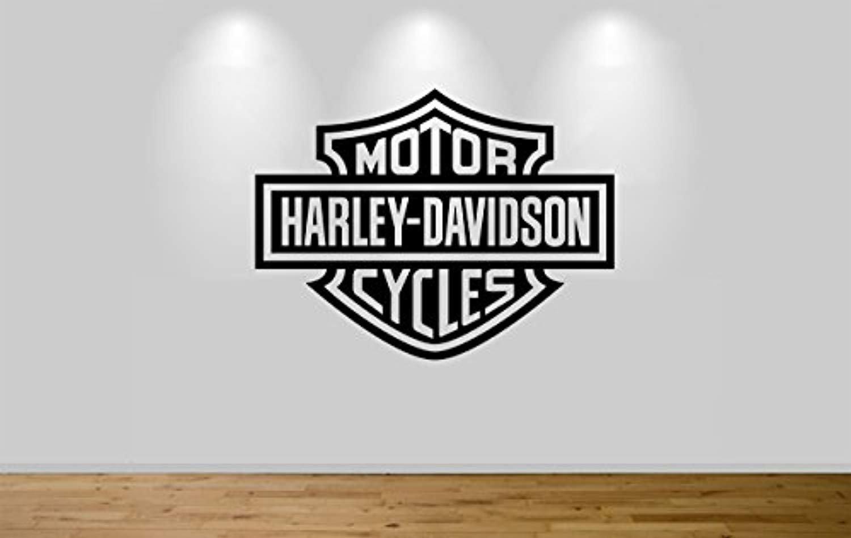 Harley davidson motorbike wall sticker decal 1306 amazon ca home kitchen