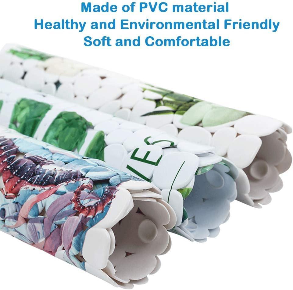 Style 01 Non-slip Bath Shower Mat PVC Anti-Slip-Resistant Submarine Tropical Fish Bathtub Mat for Bathroom 70 X 35cm with Strong Suction Cups