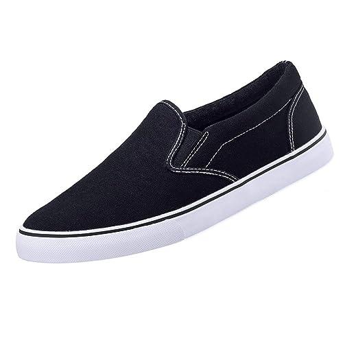 51361c765d320 Amazon.com | CAMEL CROWN Men's Canvas Shoes Unisex Loafers Sneakers ...