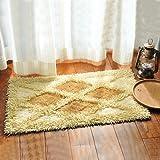 Cotton bathroom water-absorbing mats household mats non-slip door mat bathroom mat -50*80cm h