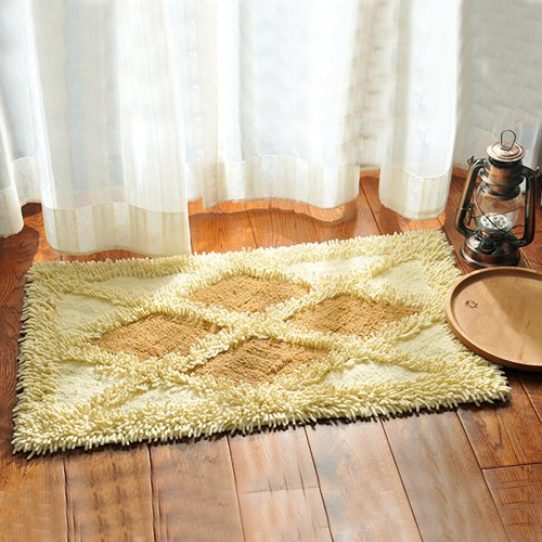 Cotton bathroom water-absorbing mats household mats non-slip door mat bathroom mat -5080cm h by ZYZX