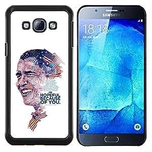 KLONGSHOP // Cubierta de piel con cierre a presión Shell trasero duro de goma Protección Caso - Líder de EE.UU. - Samsung Galaxy A8 A8000 //