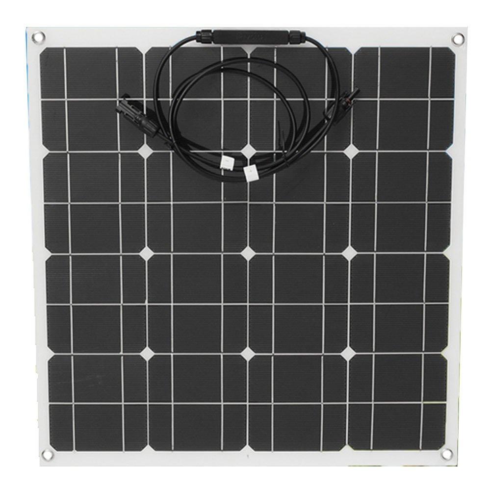 Cewaal Hanbaili 12V 50W Pannello solare monocristallino semi-flessibile semi-soffice Sunpower