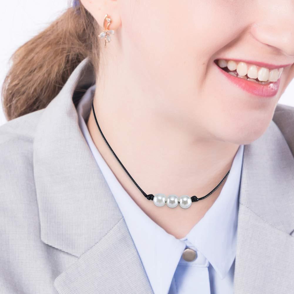 Amazon.com: Liumart - Gargantilla de perlas con cordón de ...