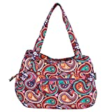 Quilted Cotton Handle Bags Shoulder Bag (Paisley Purple)