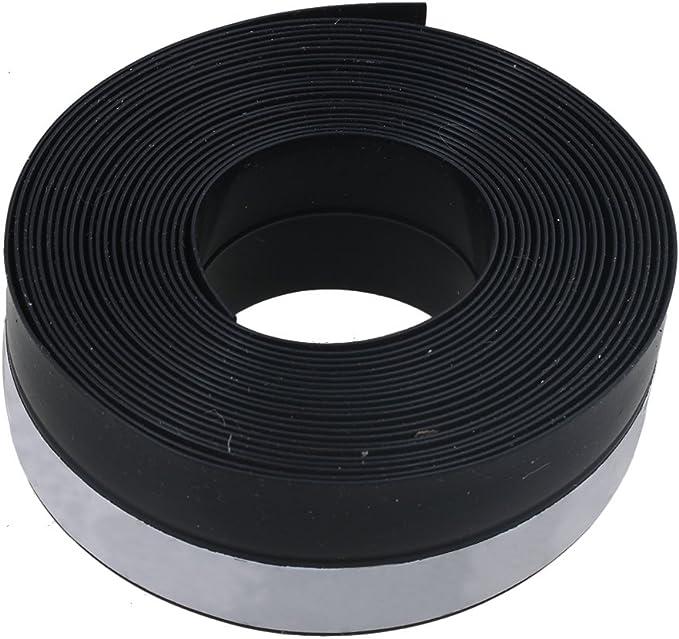 RDEXP Tira de Sellado de Caucho de burlete Negro de 25 mm x 1 mm 5 Metros para Puertas de Garaje correderas Windows: Amazon.es: Bricolaje y herramientas