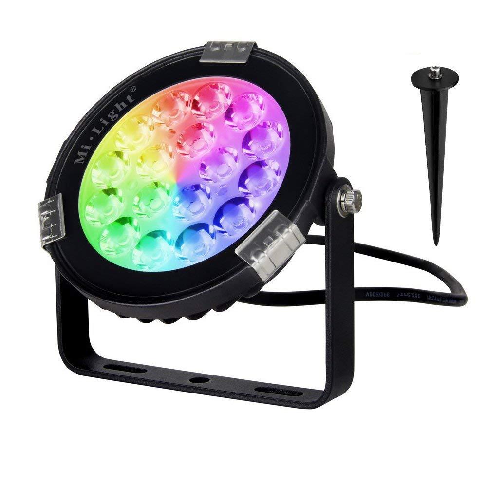 BSOD Milight LED Flutlicht RGB CCT 9W DC24V AC86-265V Drahtlose Steuerung durch RF2.4GHz Outdoor Landscap Scheinwerfer Wasserdicht IP65 (DC24V)