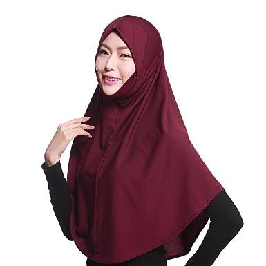 Beikoard Gorra Hijab Turbante, Mujer Musulmán Estiramiento Turbante Sombrero Chemo Cap Cabello Pérdida Cabeza Bufanda Wrap Tapa: Amazon.es: Ropa y ...
