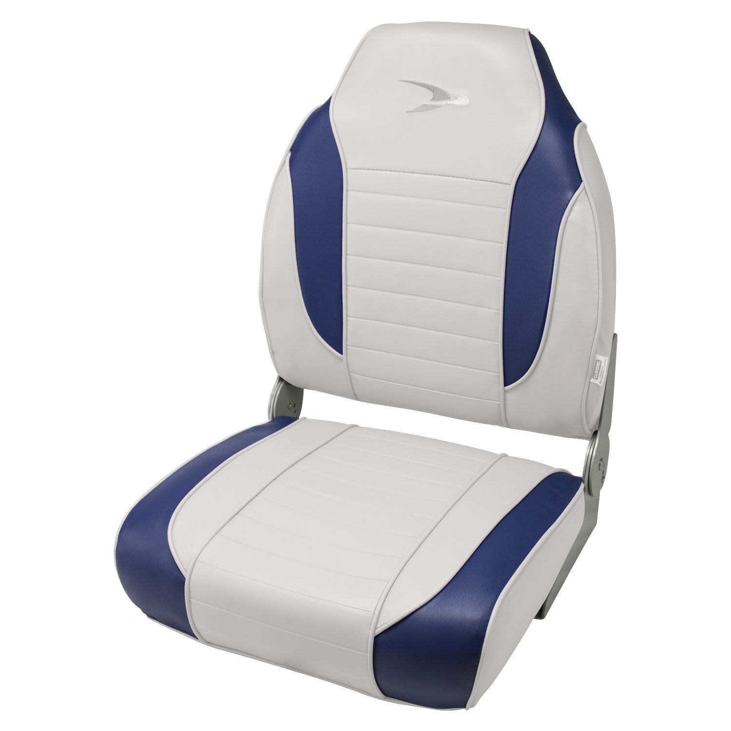Wise 8WD892 Series Striped High Back Boat Seat Brite White-Midnite The Wise Company 8WD892PLS-1713
