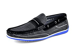 Bruno HOMME MODA ITALY SEBA-5 Men's Imported Moccasin Driving Casual Loafers Slip On Boat shoes