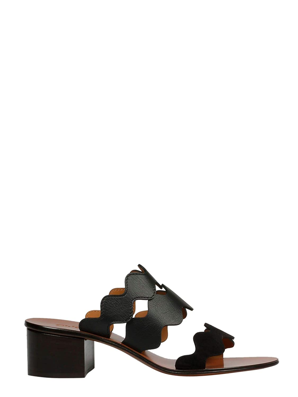 edea4af70dcb8 Chloé Women s CHC17U65142001 Black Leather Sandals  Amazon.co.uk  Shoes    Bags