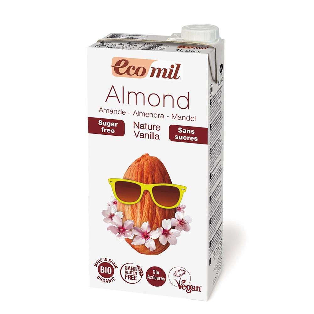 Ecomil Bebida Vegetal de Almendra sin azúcar Vainilla Bio, 1L: Amazon.es: Hogar