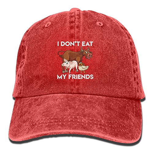 Arsmt I Don't Eat My Friends Pigs Denim Hat Adjustable Mens Vintage Baseball (Tumblr Best Friend Costumes)
