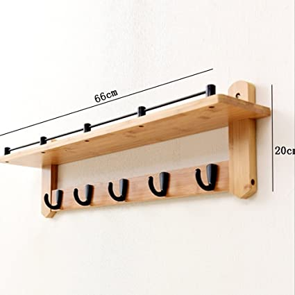 Amazon.com: COAT RACK NAN Liang Solid Wood Black Silver 4 ...