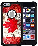 iphone 6 canada - CorpCase iPhone 6 Plus Case / iPhone 6S Plus 5.5 Inch Case - Canada canadian flag grunge distressed / Hybrid Unique Case With Great Protection