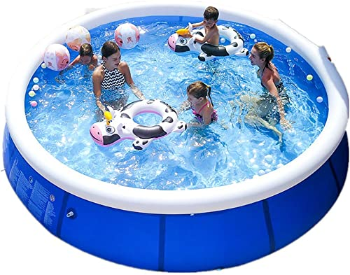 mkkk Outdoor Large Children s Pool 360cm x 76cm. Above Ground Pool with Filter Pump inflates