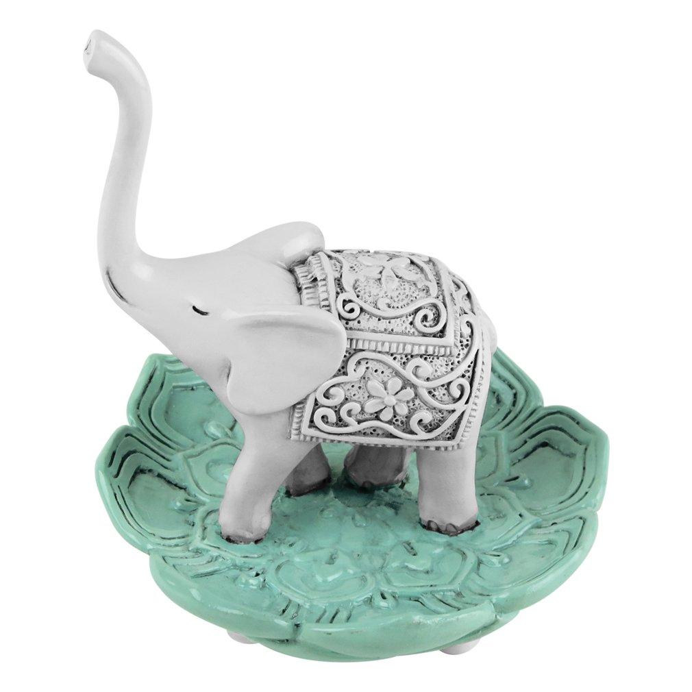 Amazon.com: Evelots Elegant Good Luck Elephant Jewelry Ring Holder ...