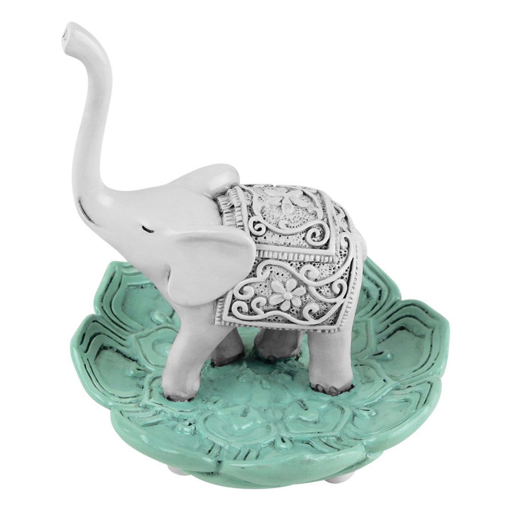 Evelots Elegant Good Luck Elephant Jewelry Ring Holder, Jewelry Stand by Evelots (Image #6)