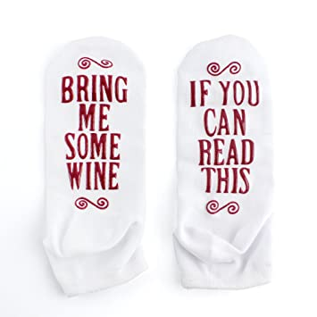 luxury combed cotton bring me some wine novelty socks perfect hostess or