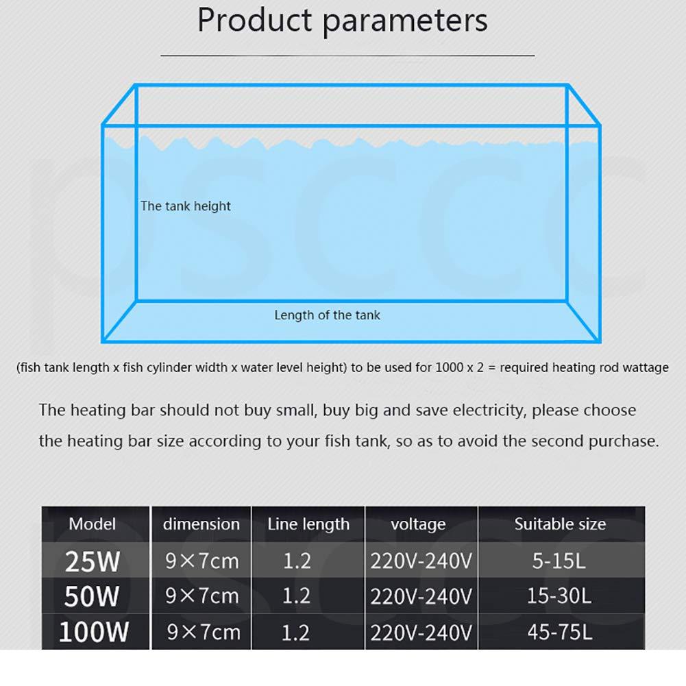 DJLOOKK Calentador De Acuario Pequeño Sumergible con Pantalla Ledde Temperatura Visible Y Controlador De Temperatura Externo para Tanque De Peces De 50-80 ...