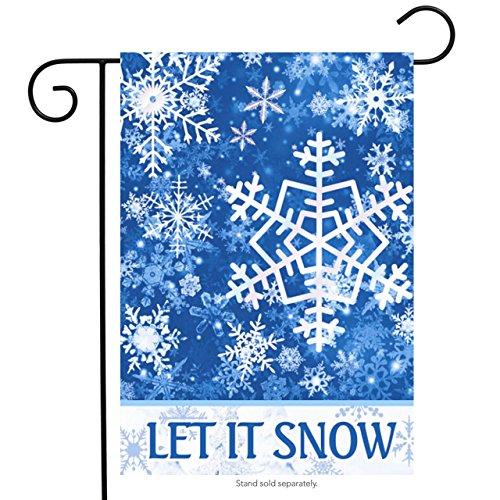 Briarwood Lane Let It Snow Snowflakes Winter Garden Flag 12.5