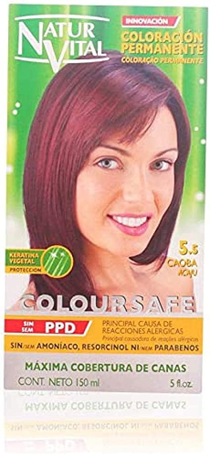 Naturaleza y Vida Coloursafe Tinte Permanente Tono 5.5 Caoba - 150 ml