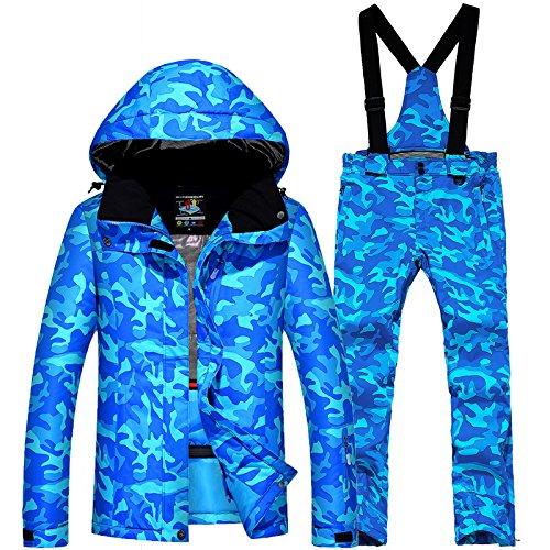 Sci Dyf M Giacche Ispessito Paio Uomini Donne Tuta Fym Cappotto Impermeabile Caldo Giacca Azzurro gXgx1Hn