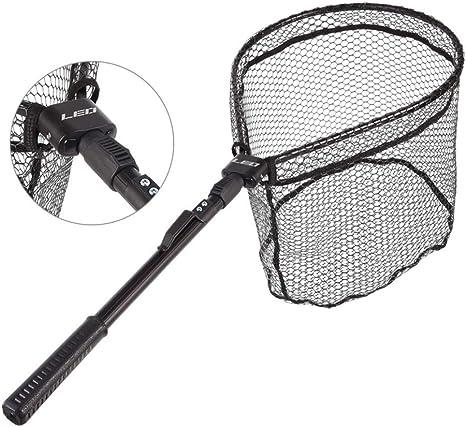 Folding Fishing Landing Net Portable Triangle Dip Casting Ultralight Tackle Tank