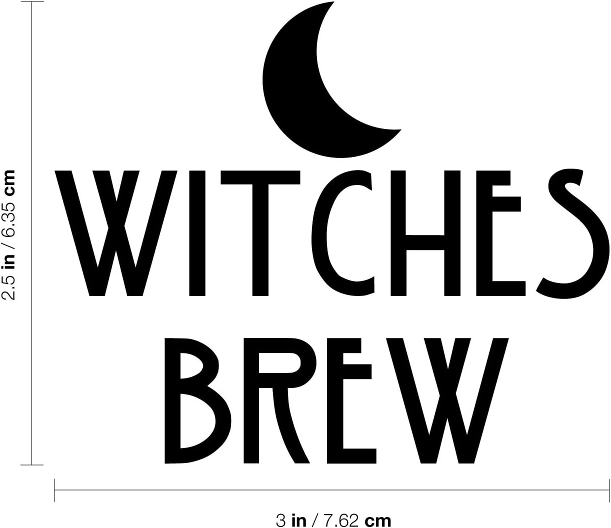 crafts walls etc Halloween Witches Brew vinyl decal For glasses