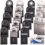SPTA Oscillating Multi Tool 34mm Saw Blade With Plastic Box For Fein Multimaster,Dremel,Bosch,Makita,Dewalt and More-Pack of 20Pcs