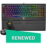 Renewed  GAMDIAS ARES 7 Color GKC6011 Gaming Membrane Keyboard and 4000DPI Mouse