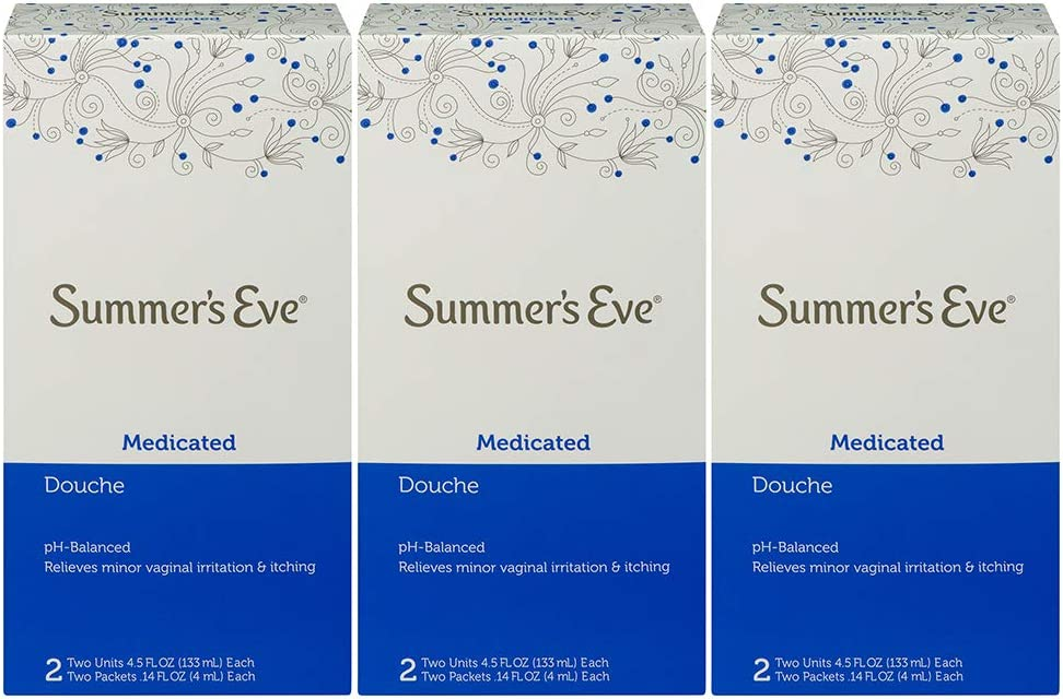 Summer's Eve 3 Piece Douche Medicated 2, 4.5 Fl Oz, Pack of 3: Health & Personal Care
