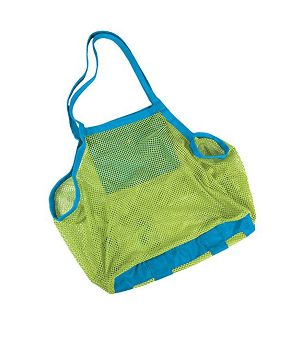 Hosaire Beach Mesh Bag Sandy Beach Shell Pouch Toy Storage Tote Sand Away Green