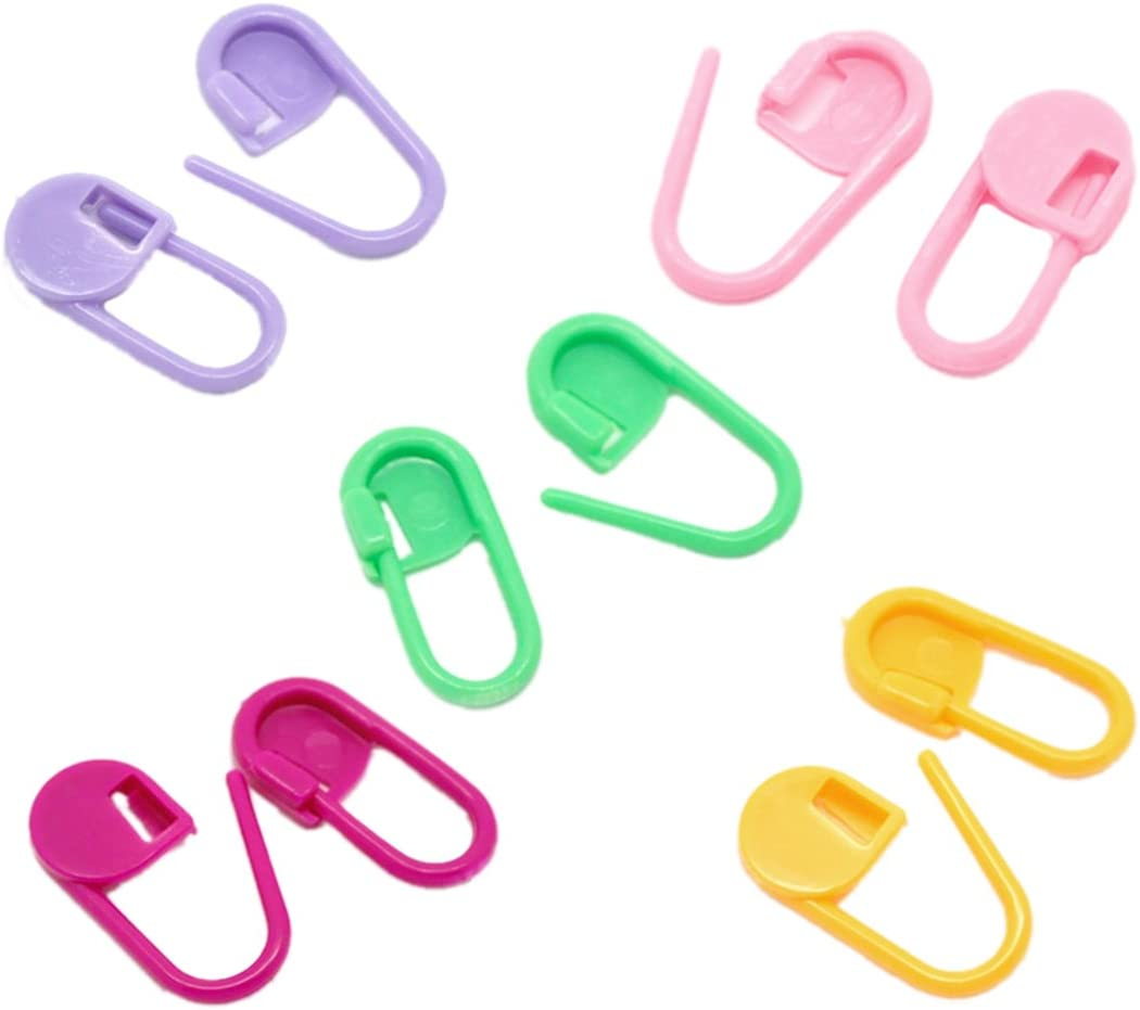 Souarts Mix Farbe Stricken H/äkeln Locking Maschenmarkierer schlie/ßend Ringmarkierer Needle Clip 200St