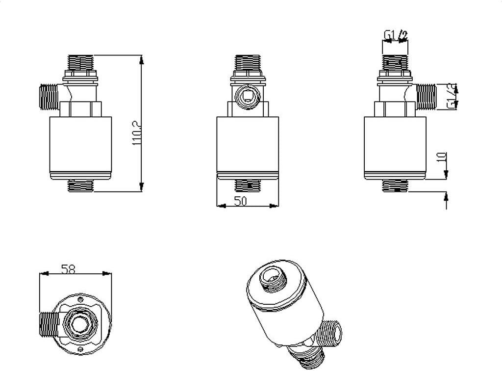 schwimmender Kugelhahn G1//2 G3//4 Turm Automatischer Wasserstandskontrollventil