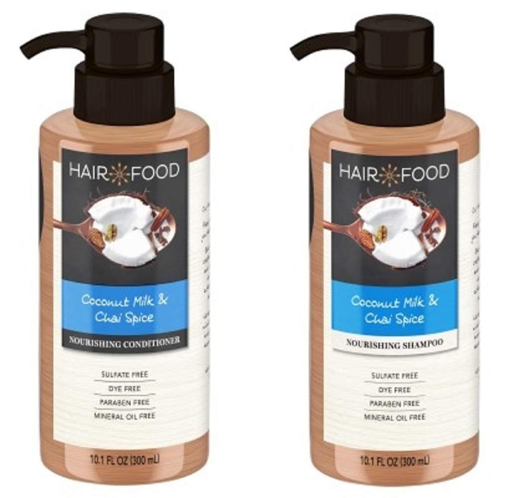 Hair Food Coconut Milk & Chai Spice Nourishing Shampoo And Conditioner Set 10.1 oz.