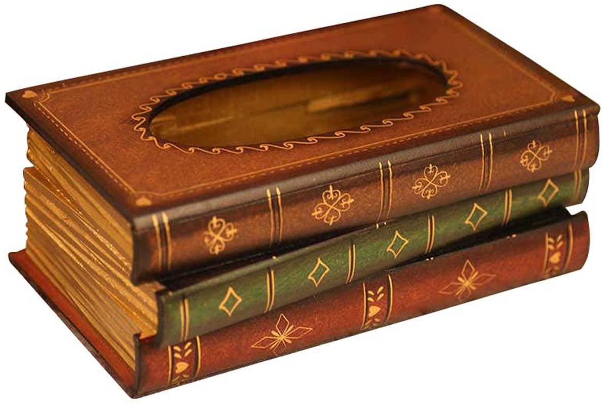 Tosnail Elegant Wooden Antique Book Tissue Holder Dispenser/Novelty Napkin Holder: Home & Kitchen