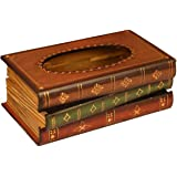 Tosnail Elegant Wooden Antique Book Tissue Holder Dispenser / Novelty Napkin Holder