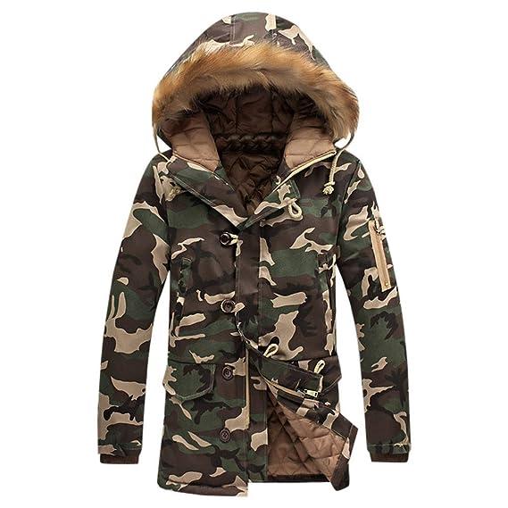 Amlaiworld Abrigo de Invierno de Camuflaje de Moda para Hombres Engrosamiento de algodón Acolchado Chaqueta de Invierno Cazadoras De Plumas Chaquetas: ...