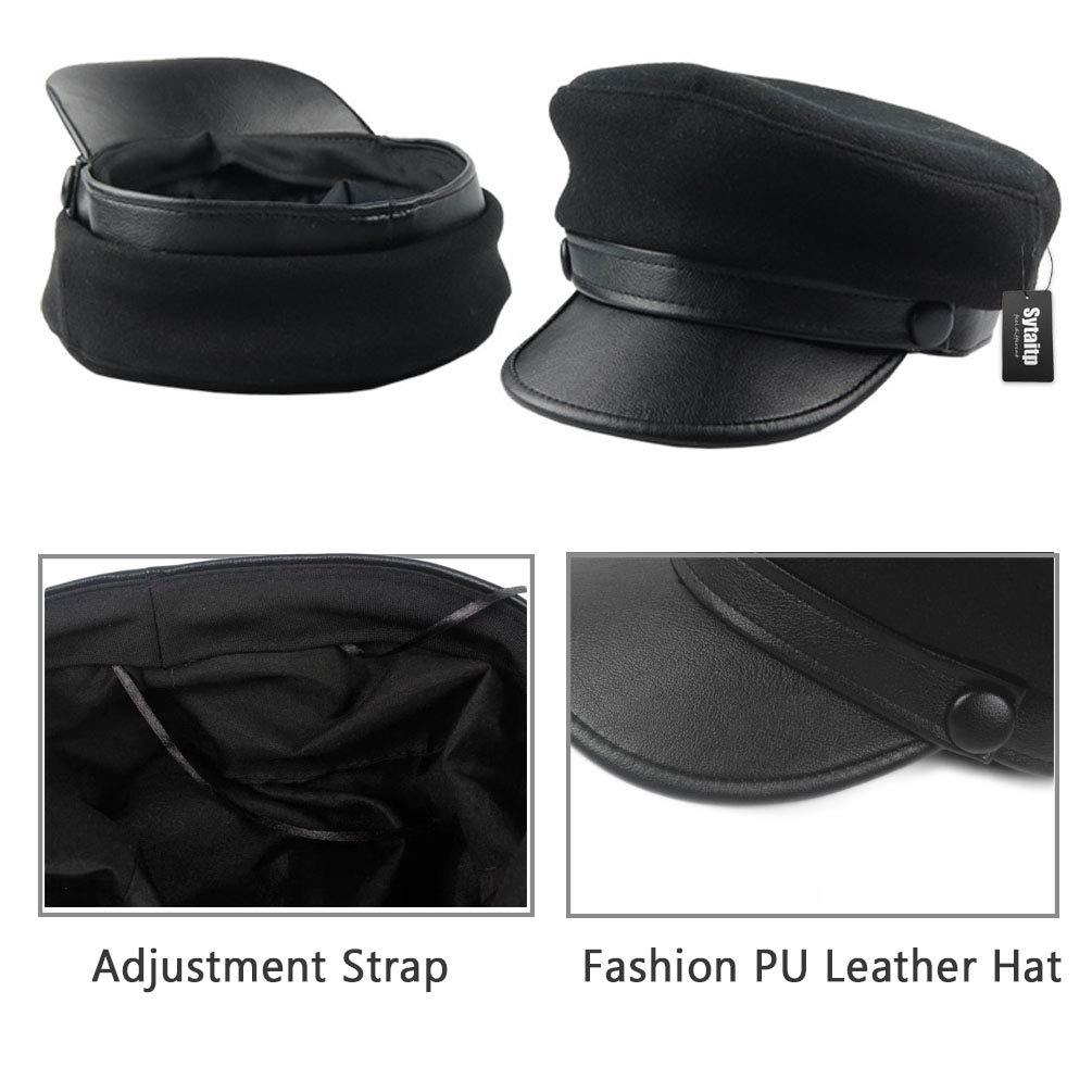 55a142c3b4d Sytaitp Womens Wool Newsboy Visor Beret Hat Cap for Women Paperboy Cabbie  Hats