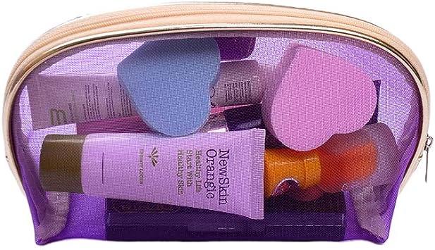aoory Maquillaje Estuche Profesional Belleza Maquillaje Caja Organizador de Cosméticos para Mujer Azul Violeta: Amazon.es: Hogar