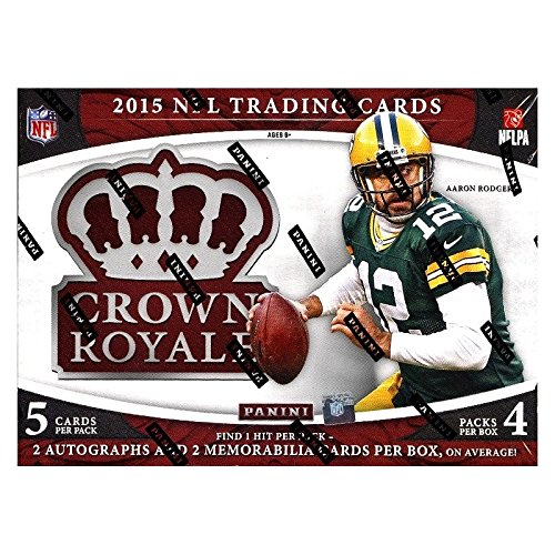 (2015 Panini Crown Royale Football Hobby Box (4 Packs of 5 cards, 2 Autographs, 2 Memorabilia Cards) (Release Date)