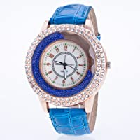 Meiyiu - Reloj de Cuarzo para Mujer, Estilo Casual, con Diamantes de imitación, Adorno de Regalo
