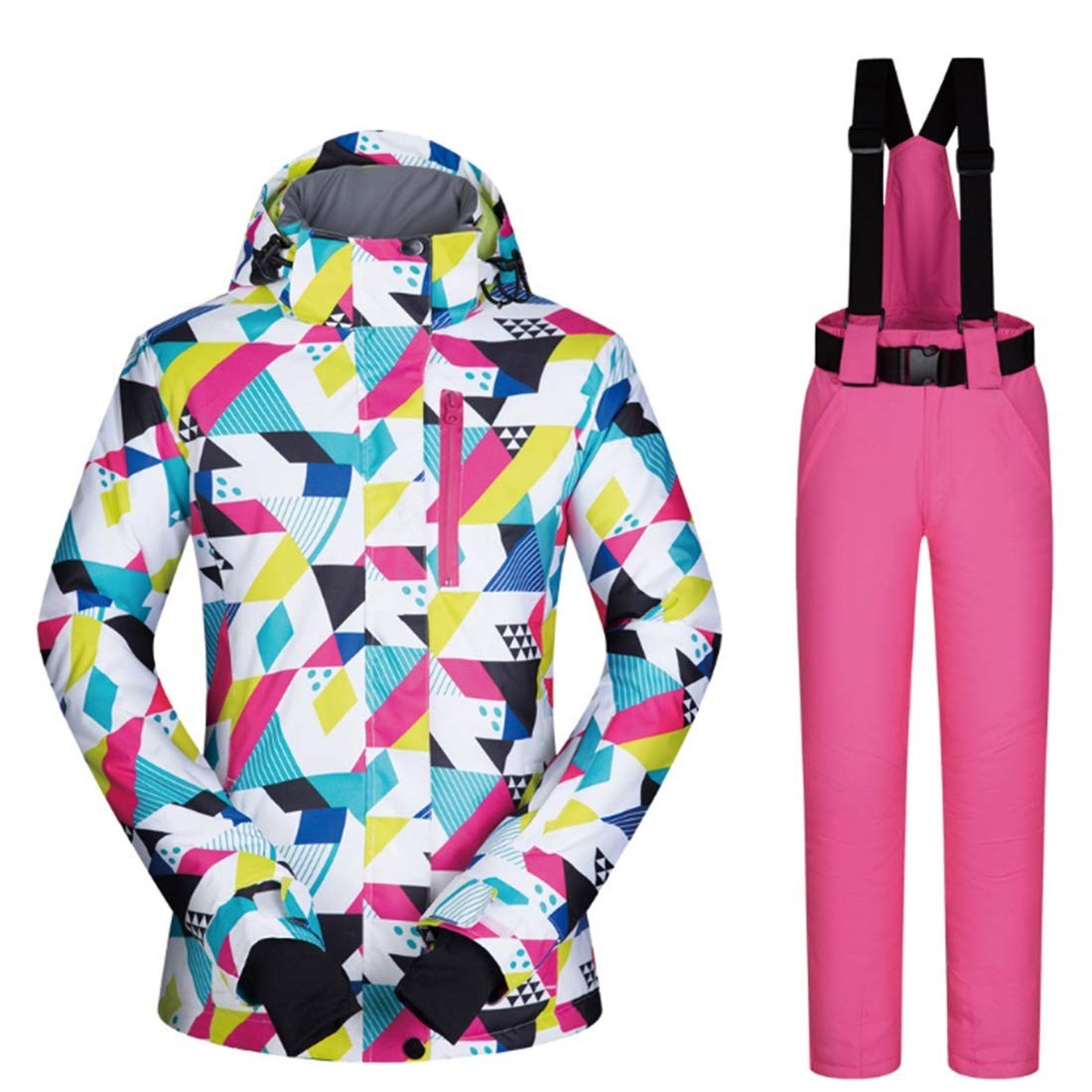 1 XIAMEND Windproof & Waterproof Women Jacket, Outdoor Sport Winter Girl Coat Dress Ski Jacket (color   02, Size   M)