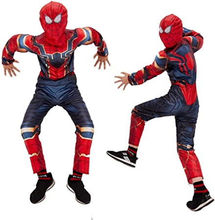 Enfants Spider Man Halloween Costume Combinaison 3d Imprimer Spandex Lycra Muscle Vetements Spiderman Body Costume Cosplay Amazon Fr Bricolage