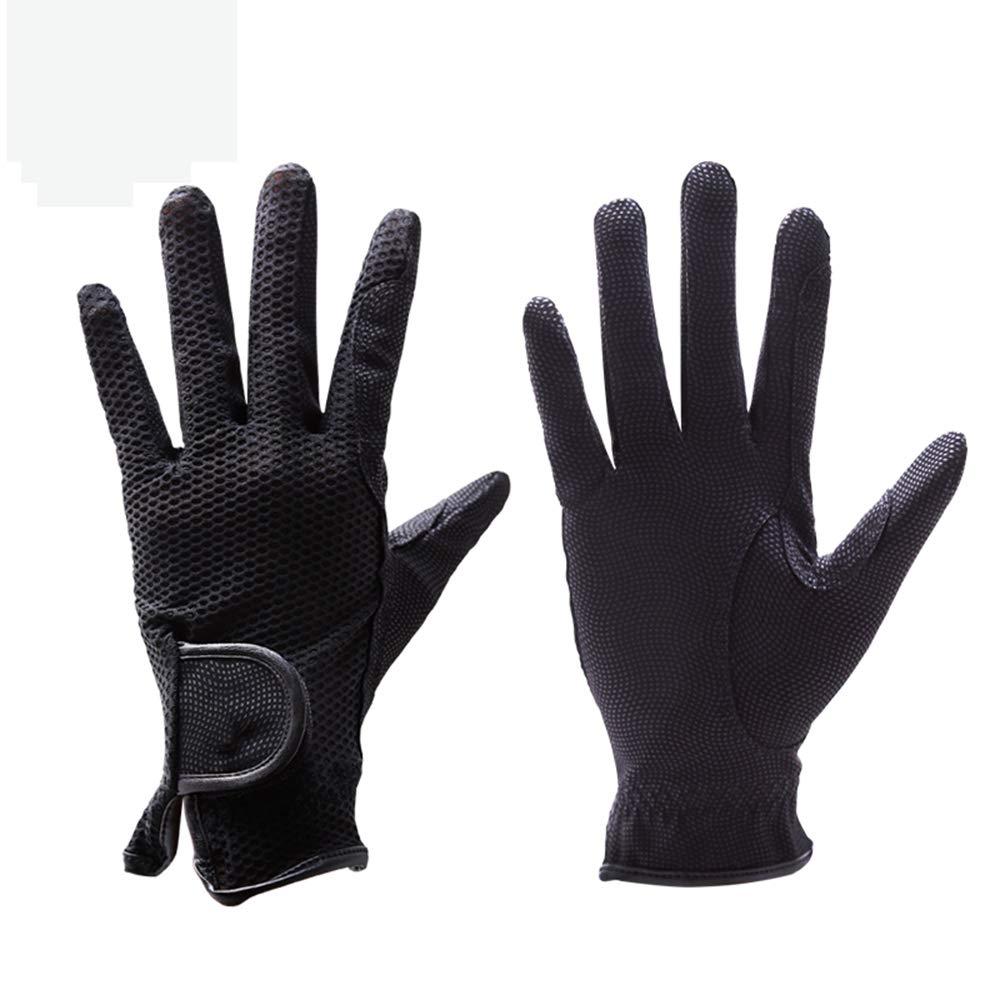 乗馬手袋は、吸汗、馬術スポーツのため、指、ノンスリップ、調節可能な手首に厚く,XL  X-Large