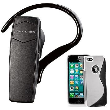 Juego de Plantronics Explorer-10 reducción de ruido Manos libres auricular Bluetooth inalámbrico funda rígida para iPhone 4 4S: Amazon.es: Electrónica