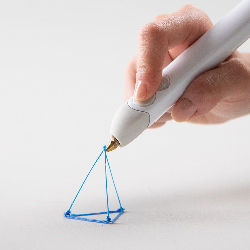 600 ft. of Extruded Plastic 3Doodler Create+ 3D Pen Set with 75 Filaments Camouflage Green UK-Plug 2018 Model