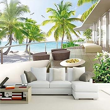 Amazon.com : Foto personalizzata Wallpaper Mare Egeo Balcone ...