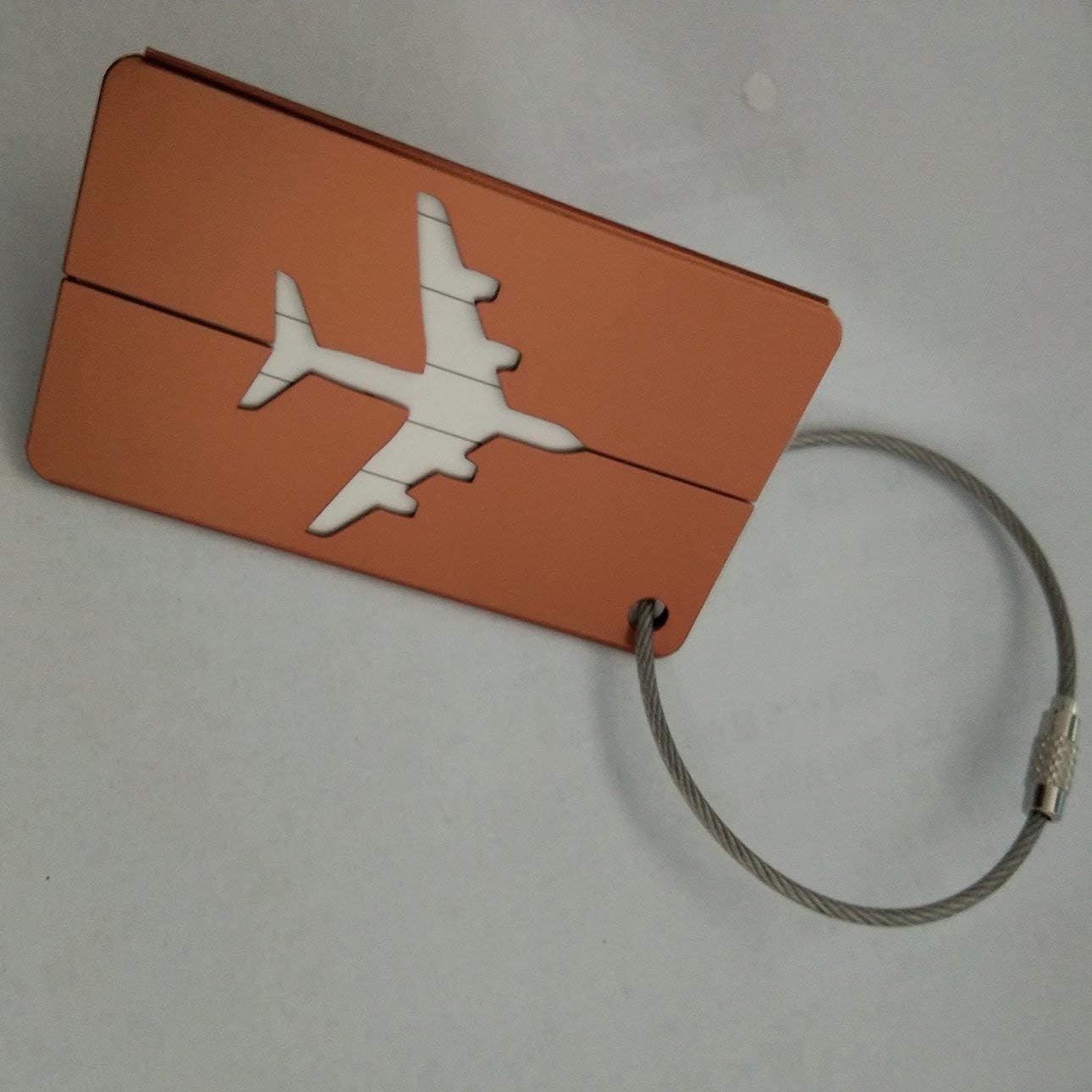 Ballylelly Couleurs multi dalliage daluminium d/étiquette de bagage en m/étal divers types de carte didentit/é d/étiquettes de voyage davion